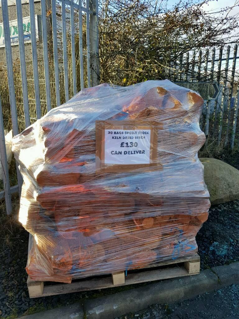 Kiln dried beech burst bags spoilt stock