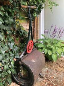 Antique Cast Iron Victorian Garden Roller