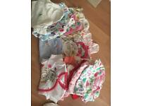 Bundle baby girl vests newborn first size and early bany