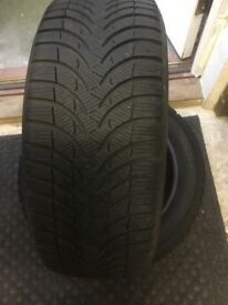 ALPIN 4 TYRES X 2 MICHELIN ALPIN WINTER SNOW