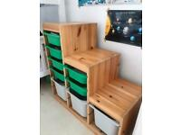 IKEA Trofast storage unit with 9 boxes