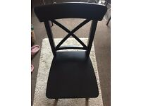 Black Wooden Chair/ Suitable for a desk/dining room/ bathroom