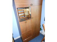 Wood effect small Wardrobe/cupboard/drawer unit