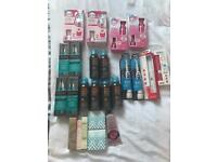 Job lot of make up hair products toothbrushes sun cool sprays