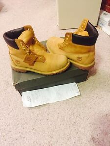 Pair of brown timberland work boots