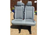 ford transit mk8 double seat ,also fits vw transporter t4 , t5 ,sprinter,vauxhall,caddy,mercedes van