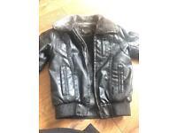 Leather boys jacket