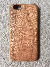 Hand-engraved wooden phone case for iPhone 6 & 6s