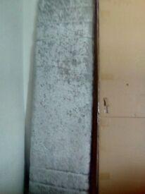 Kingsize crushed velvet silver headboard