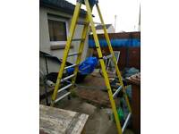 8ft Aluminium step laders with papers