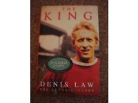 Denis law Manchester united and Scotland legend signed copy of his biography