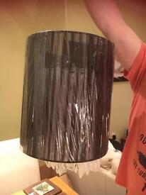 Large Cylinder Lampshade Crystal Light