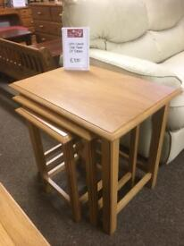 John Lewis solid oak nest of 3 tables * free furniture delivery *