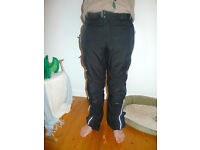 Motorcycle trousers, armoured, Hein Gericke, fabric, summer, winter. Size 32 waist
