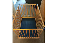 MOTHERCARE WOODEN PLAYPEN