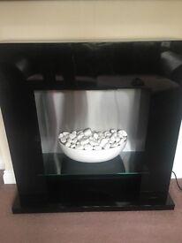 Next Black gloss electric fireplace