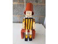 Wooden Plant Pot men in Hull City colours