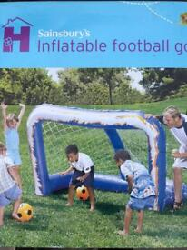 X2 Brand NEW in sealed box Inflatable football nets soccer goal posts outdoor toys