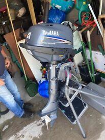 Outboard Yamaha motor boat engine 4 hp