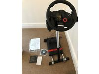 Logitech Driving Force GT Wheel And Wheel Stand Pro for PC & PS3