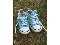 Child's converse trainers uk size 10 turquoise girl or boy