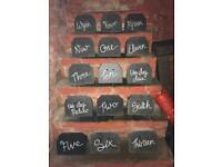 Slate table numbers wedding - Welsh and English