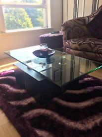 DFS Glass Coffee Table & Side Table £110