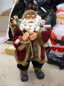 Large Father Christmas free standing 31 inches tall very decorative in box with labels attached