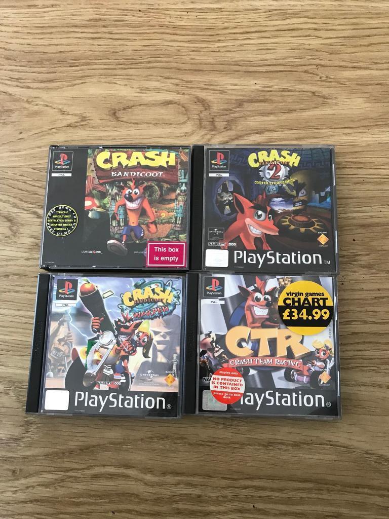 crash bandicoot ctr series playstation 1 games ps1 in upminster