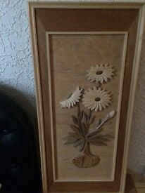 Wooden Flower Picture