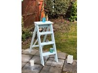 Gorgeous Vintage Restored Step Ladder