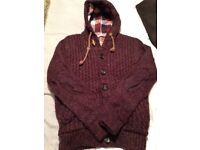 Mens Hooded Knit Cardigan