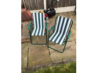 2 Deck Chair style Seats