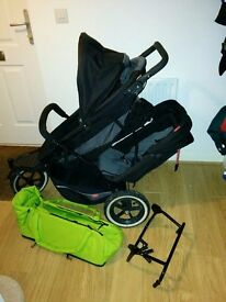 Double Pushchair (Phil and Teds Explorer)