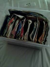 45s and cd's