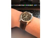 SNK809 Black with Leather strap (Automatic movement)