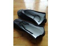 Soft leather dance shoes, ladies size 5