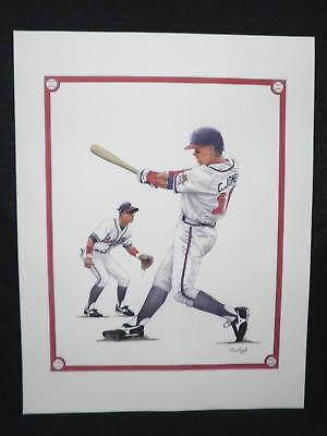 Chipper Jones Atlanta Braves Hall of Fame 2018 MLB Baseball Lithograph