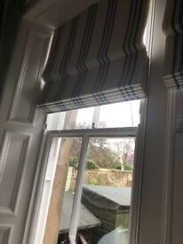 Roman blinds for bay window