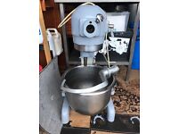 Hobart Dough Mixer with 2 Hook Attachments