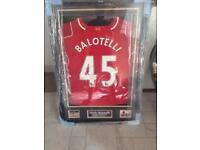 Mario Ballotelli Signed T-Shirt Season 2015-2016 Shirt He Worn.