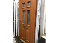 Light Brown Recycled Upvc Front Door 985 x 2130 - £180.00p