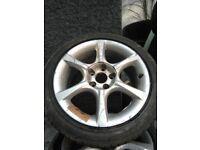 Alloys say Nissan on back so of jap cars x2 225/45/zr17 both good tread hold air