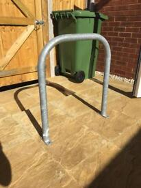 Galvanised bike stand