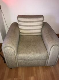 1 x 3 seater and 2 x 1 seater sofa