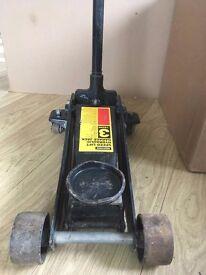 Halfords Heavy Duty 3 Three Tonne Hydraulic Speed Lift Trolley Jack - 644203 - Good Used Condition