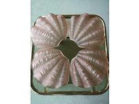 ORIGINAL 4 ART DECO 'ODEON' STYLE CLAM SHELL LIGHT SHADES FOR CEILING CHANDELIER