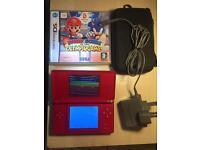 Nintendo ds lite console red colour bundle