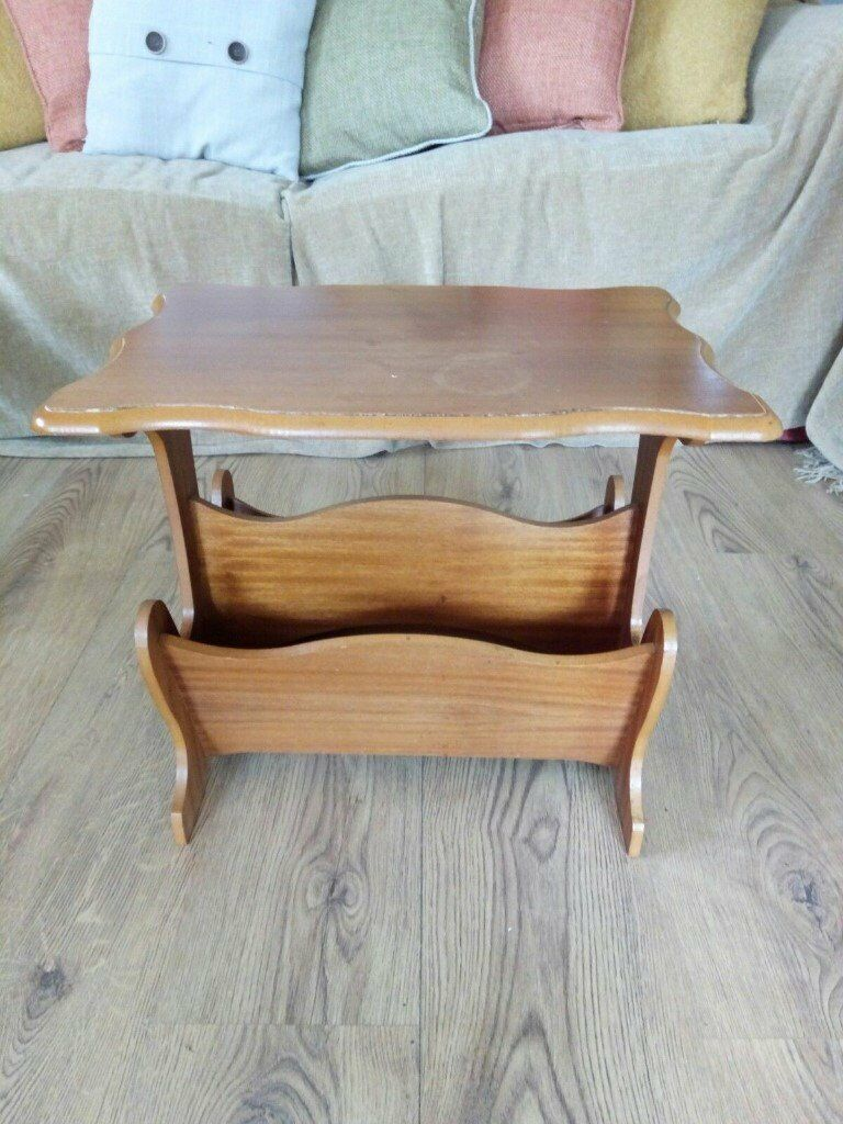 wooden vintage gillingham furniture living p in dining magazine rack other gumtree kent