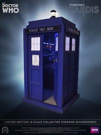 BIG CHIEF STUDIOS 1/6 SCALE DOCTOR WHO TARDIS,RARE DALEK,POLICE BOX,LQQK COOL